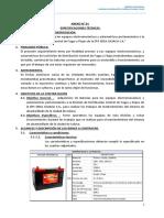 ESPECIFICACIONES TECNICAS - BATERIAS