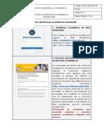 PROTOCOLO MATRÍCULAS ACADÉMICAS ESTUDIANTES