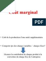 Coût marginal (1)
