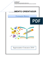 Documento Orientador- Formação Básica para Ingressantes 2018