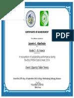 bulprisa certificate winners 2019-2020