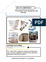 Food Processing Learning Activity sheet