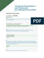 Respuestas RAP4_EV03 PRUEBA DE CONOCIMIENTO - PREGUNTAS SOBRE TÉCNICAS DE COMUNICACIÓN Y RESOLUCIÓN DE CONFLICTOS.docx