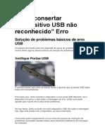 """Como consertar """"dispositivo USB não reconhecido"""" Erro.pdf"""