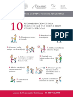 volante10 recomendaciones para prevenir el consumo de drogas