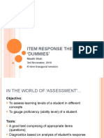 Item response theory for 'dummies'