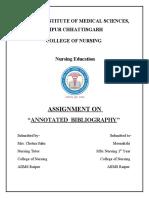 annotated bibliography edu