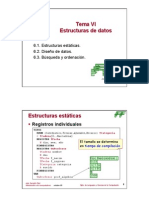 Tema 6 - Estructura de datos estaticas