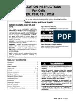 ICP FEM4X60000b2 Fan Coil installation instructions