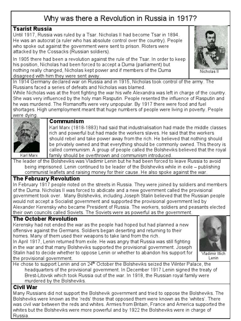 Russian revolution worksheet and notes   Vladimir Lenin ...