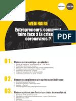 BPIfrance Entrepreneurs Comment faire face a la Conavirus