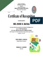 certificate of appreciation VOLUNTEER BE