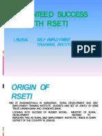 About RSETI