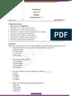 ICSE-Class-6-Biology-Sample-Paper-Set-1