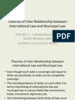 Theories of Inter-Relationship between