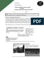 Actividad Historia, Geografía y Ciencias sociales