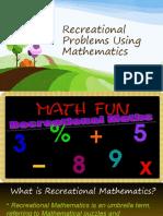 Recreational Problems Using Mathematics.ppt