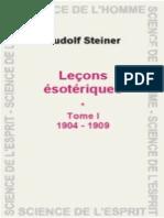Lecons esoteriques Tome I - Steiner, Rudolf