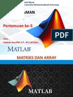 Matrix dan Array