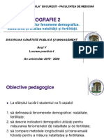 LP 4 - Demografie 2. Natalitate, fertilitate