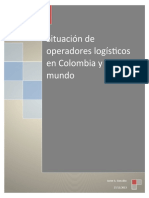 Situacion de los operadores logisticos en colombia y en el mundo.