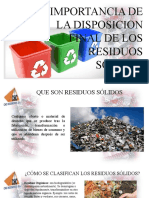 Disposicion Final de Residuos Solidos