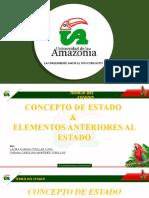 PRESENTACION - CONCEPTO DE ESTADO Y ELEMENTOS ANTERIORES AL ESTADO