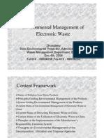 Environmental Management of Electronic Waste - Zhongbing