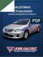 BALOTARIO JOSE GALVEZ EXAMEN DE TRANSITO PERU