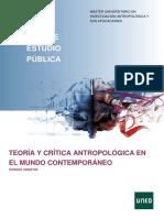 1 TEORIA Y CRITICA ANTROPOLOGICA EN EL MUNDO CONTEMPORANEO