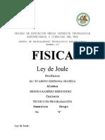 Brenda Ramirez Hernandez Ley de Joule