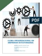 CLIMA ORGANIZACIONAL EN EMPRESAS ECUATORIANAS