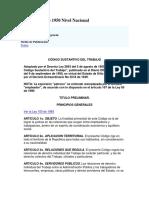 Decreto 2663 de 1950 Nivel Nacional codigo sustantivo del trabajo