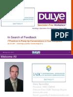Detroit IABC Feedback Linda Dulye Webinar