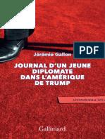 Journal d'Un Jeune Diplomate Dans l'Amérique de Trump (2018)