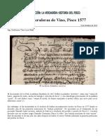 Guillermo Toro-Lira - Botijas Peruleras de Vino, Pisco 1577 (2017)