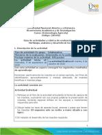 Formato Guia de actividades y Rúbrica de evaluación - Tarea 2 - Morfología, anatomía y desarrollo de los insectos