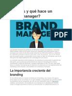 Qué es y qué hace un brand manager
