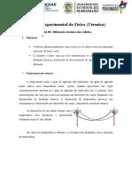 Roteiro Experimental - Dilatação térmica dos sólidos