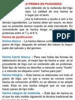 MATERIAS PRIMAS EN PANADERIA