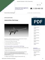 Industrial Mixer Shaft Design - ProQuip Inc. Mixing Solutions