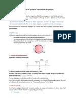 Etude de quelques instruments d'optique