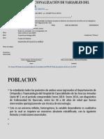 CUADRO DE OPERACIONALIZACIÓN DE VARIABLES DEL PROYECTO DE