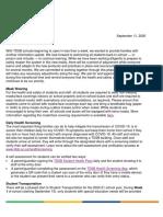 TDSB Parent-Guardian Letter - September 10, 2020