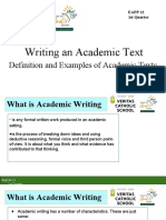 G12 What is Academic Writing