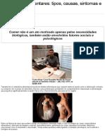 Transtornos Alimentares_ tipos, causas, sintomas e tratamentos _ Tribuna da Região