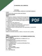 AUTOEVALUACIONES HISTORIA UNIVERSAL DEL DERECHO