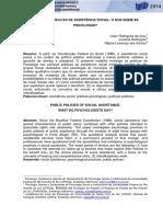 11- POLÍTICAS PÚBLICAS DE ASSISTÊNCIA SOCIAL O QUE DIZEM AS