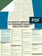 Les Archives d'architecture en Communauté française quelle politique