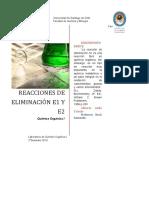 Reacciones de Eliminación E1 Y E2